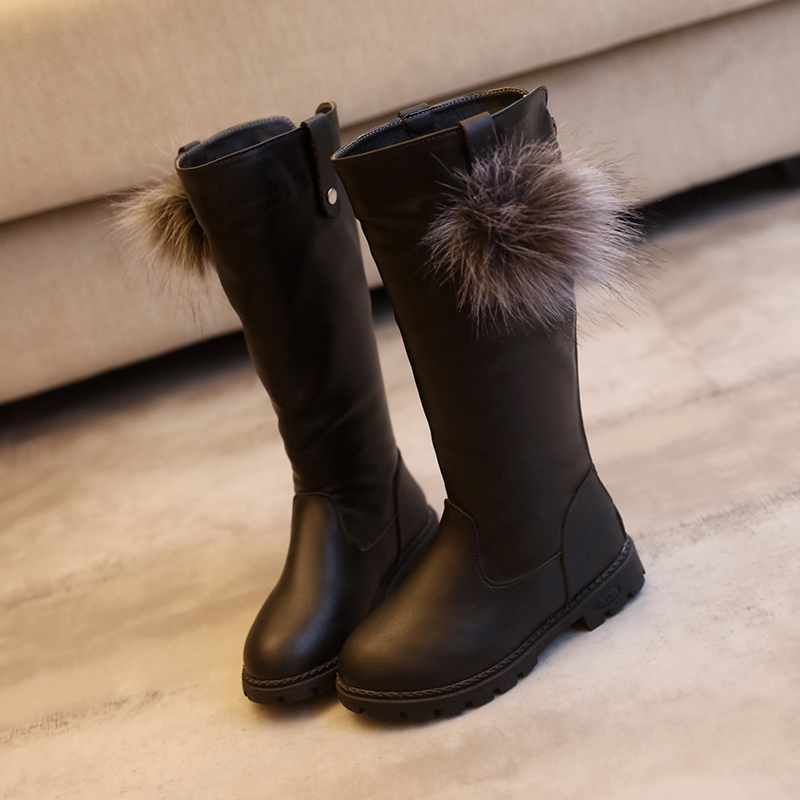 Winter-New-Fashion-Children-Leather-Boots-Warm-Princess-Boots-Girls-Boot-Kids-Cute-Shoes-Size-26-37-3