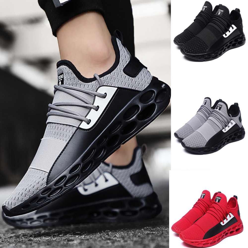 2019 New Breathable Air Mesh Men Running Shoes Jogging Gym Training Athletic Outdoor Sport Shoes Red Sneakers#es2019 New Breathable Air Mesh Men Running Shoes Jogging Gym Training Athletic Outdoor Sport Shoes Red Sneakers#es