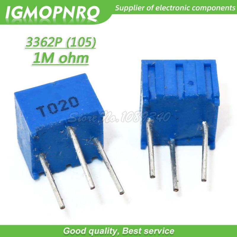 20PCS New 1M Ohm 3296W Trimpot Trimmer Potentiometer 3296W-105