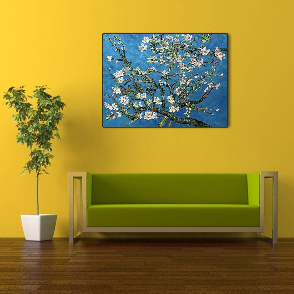 Ручная роспись высокое качество абрикосовый цвет классический Ван Гог Картина маслом Картина Настенная Картина на холсте