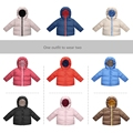 High quality Winter Jacket Boys Clothing New Winter Boys Clothing  Candy colors  Outwear Hooded Coat Girls Clothes Down jacket 1