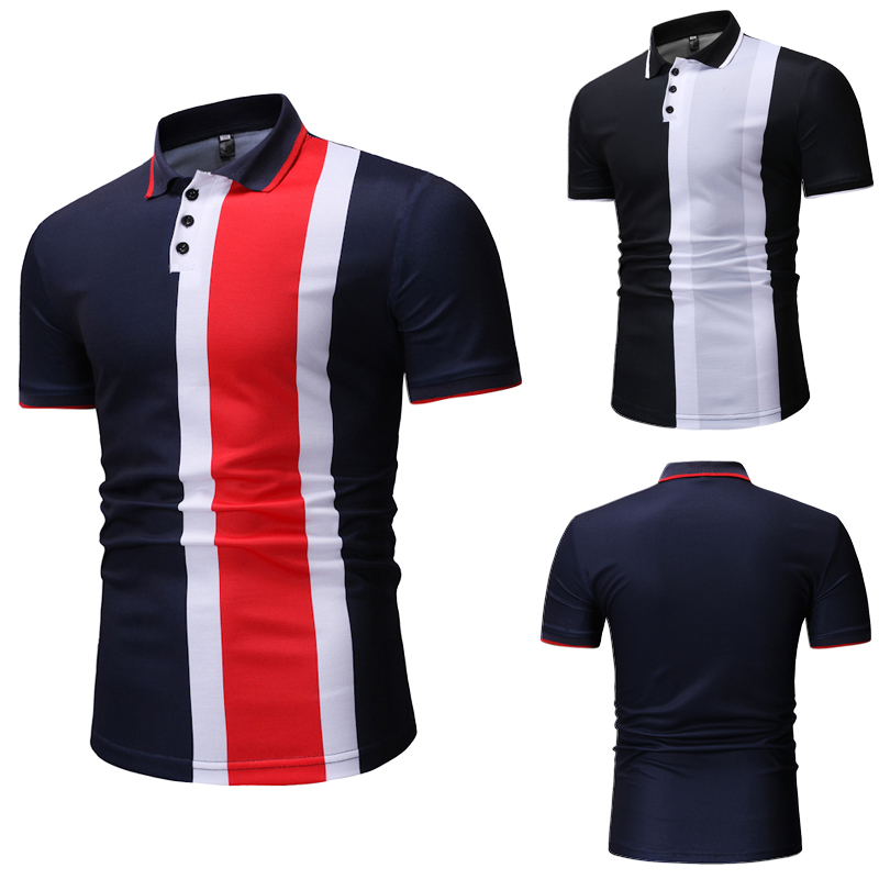 POLO   Shirt New Men's Casual Fashion Plaid   POLO   Shirt for Summer 2019
