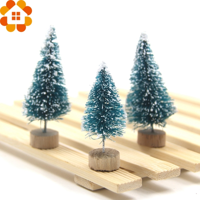 new selling3pcs diy christmas tree small pine tree mini trees placed in the desktop