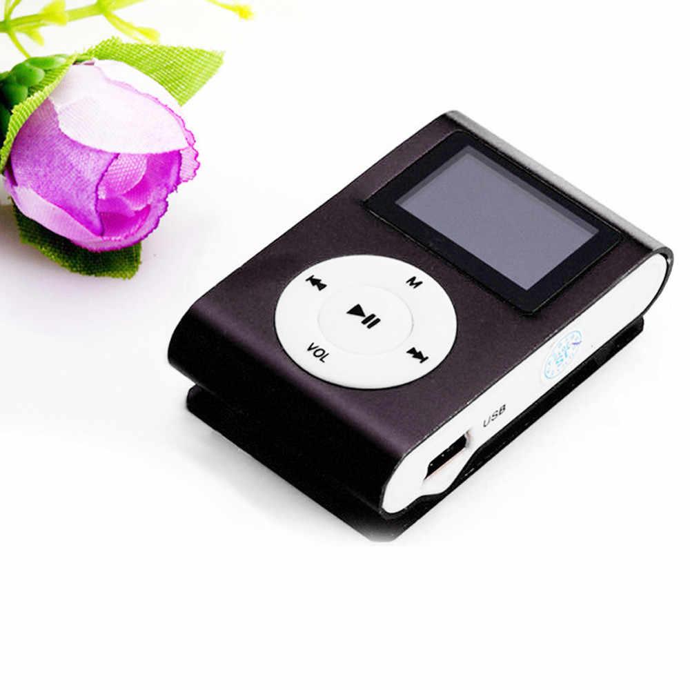Usb Hifi Muziekspeler MP3 Walkman Reproductor Mini Usb Clip Mp3 Speler Reproductor Mp3 Lcd-scherm Ondersteuning 32 Gb Micro sd Tf Card