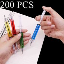 Pen Wholesale Syringe Ballpoint-Pen Office-Stationery Steel-Pen Gift Blue-Ink Magic Creative