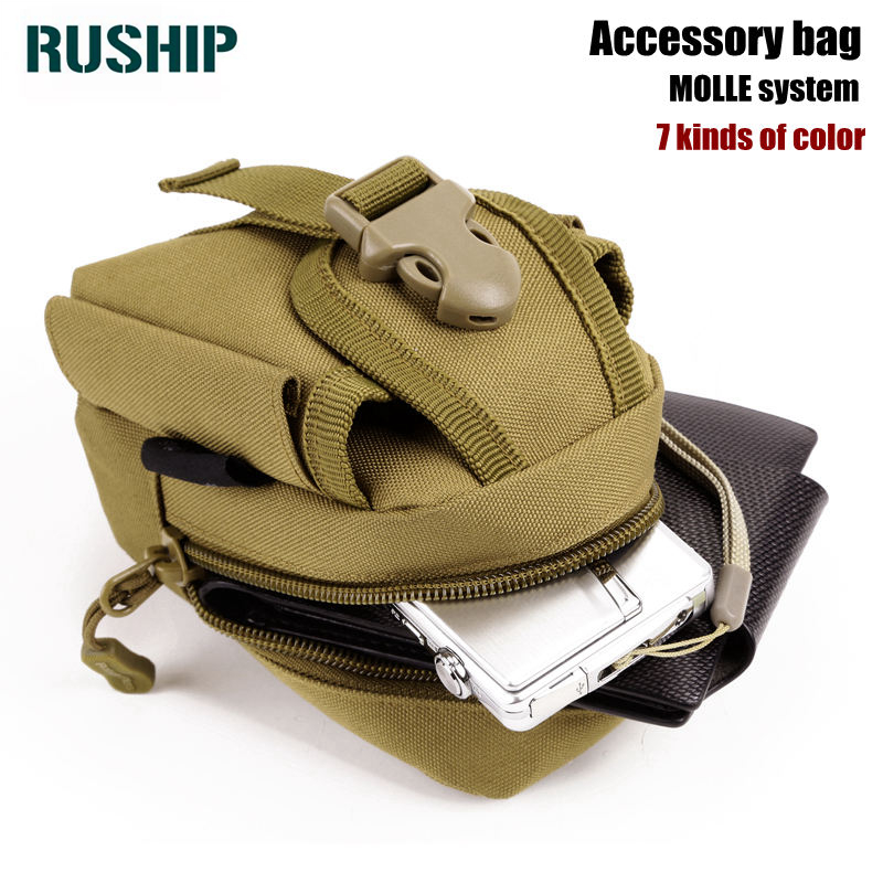 Hot Men Small Bag MOLLE Small Pouch Camouflage Mini Phone Purse Bags Man Military Fanny Pack