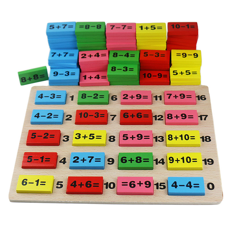 Wooden Montessori Math Toy Number Board Colorful Montessori Materials Early Learning Educational Toys For Children UB0764H