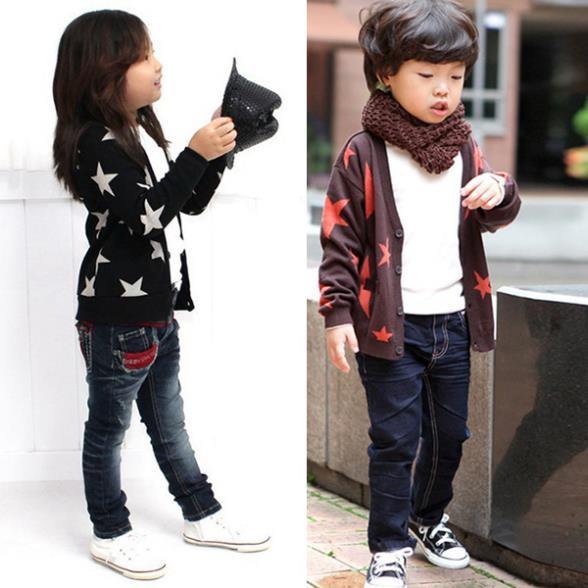 Kids-Boys-Girls-Cotton-Clothes-Long-Sleeve-Stars-Print-Knitwear-Outwear-Coat-Jacket-Tops-3