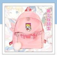 Preppy Style Anime Sailor Moon Bow Venonat Cosplay Backpack Student Nylon School Bag Fashion Unisex Travel Bags 4 Colors