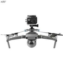 ل gopro & osmo العمل و بانورامية حامل كاميرا يتصاعد قاعدة مع صدمة امتصاص gimbal ل dji mavic 2 برو والتكبير drone