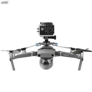 Image 1 - ل gopro & osmo العمل و بانورامية حامل كاميرا يتصاعد قاعدة مع صدمة امتصاص gimbal ل dji mavic 2 برو والتكبير drone
