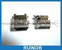 200 Pcs Mini 5 Pin USB Jack Female Connector SMT Sink Sinking Plates