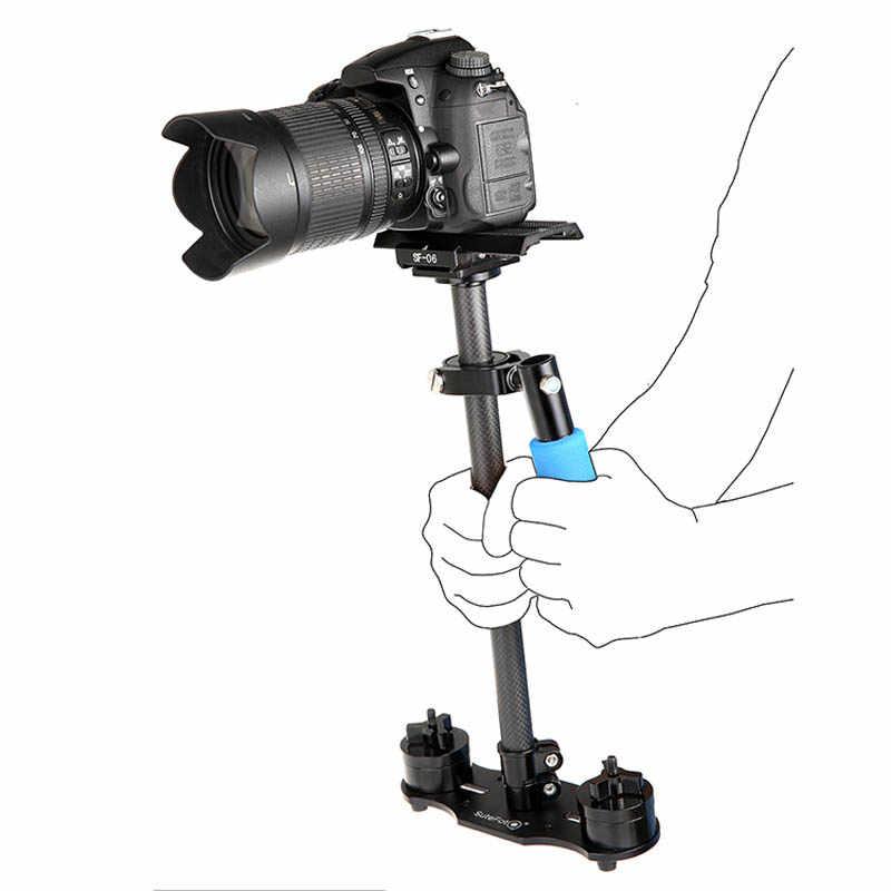 "S40 40 ס""מ מקצועי סיבי פחמן מיני DSLR וידאו מצלמה DV למצלמות מייצב עוזר צלם Steadicam עבור Canon סוני ניקון GoPro"