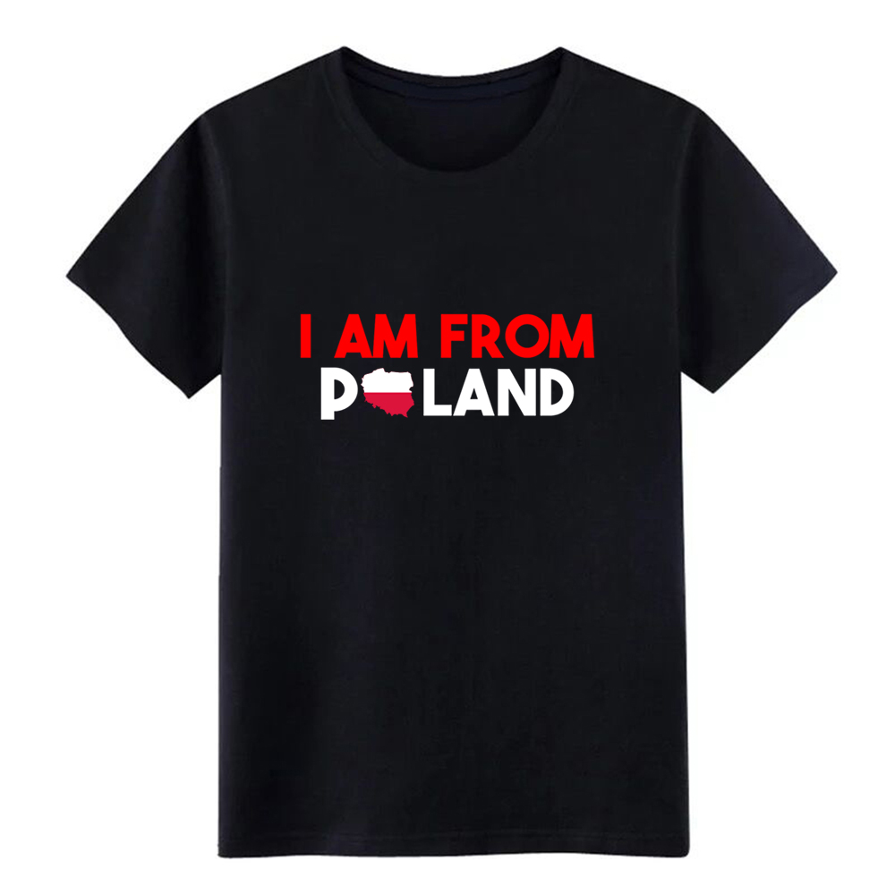 7c5881211 Camiseta para hombre I am de Polonia para crear algodón S-XXXL novedad  Crazy respirable estilo de ...