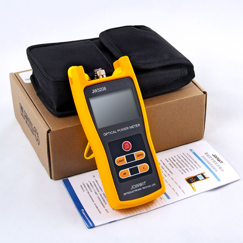 Telecommunication -70 +6dBm JW3208A Optical Power Meter Fiber Optic Tester with FC SC ST LC Connector