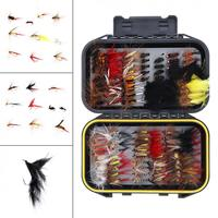 120pcs! Fly Fishing Lures Simulation Butterfly Flies Hook Trout Lures Fishing Bait Kit with Waterproof Case