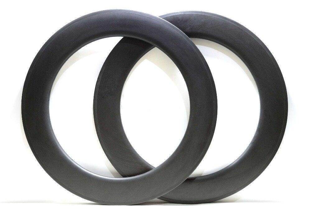 Jante simple en carbone 700C profondeur 88mm largeur 25mm avec finition mate UD/3 k jante de vélo de route/jante tubulaire de vélo de route haute