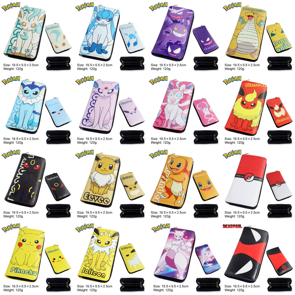 Anime Pocket Monster/Digital Monster/Multifunction Casual Long Wallet/Cell Phone Clutch Purse(China)