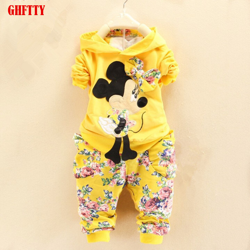 BibiCola Spring Autumn baby girls outfits Sport suit clothing set children hoodies pants kids minnie mouse clothes sets 2017 spring autumn children clothing set girls sports suit baby girls tracksuit cartoon minnie children clothes set kids cloth