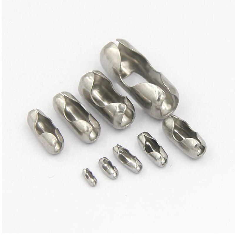 100 Pièces 316L Chaîne À Billes En Acier Inoxydable Connecteurs Sadaptent Pour 1.5mm/2.0mm/2.4mm/3.2mm Chaîne De Perles bijoux à bricoler soi-même Résultats