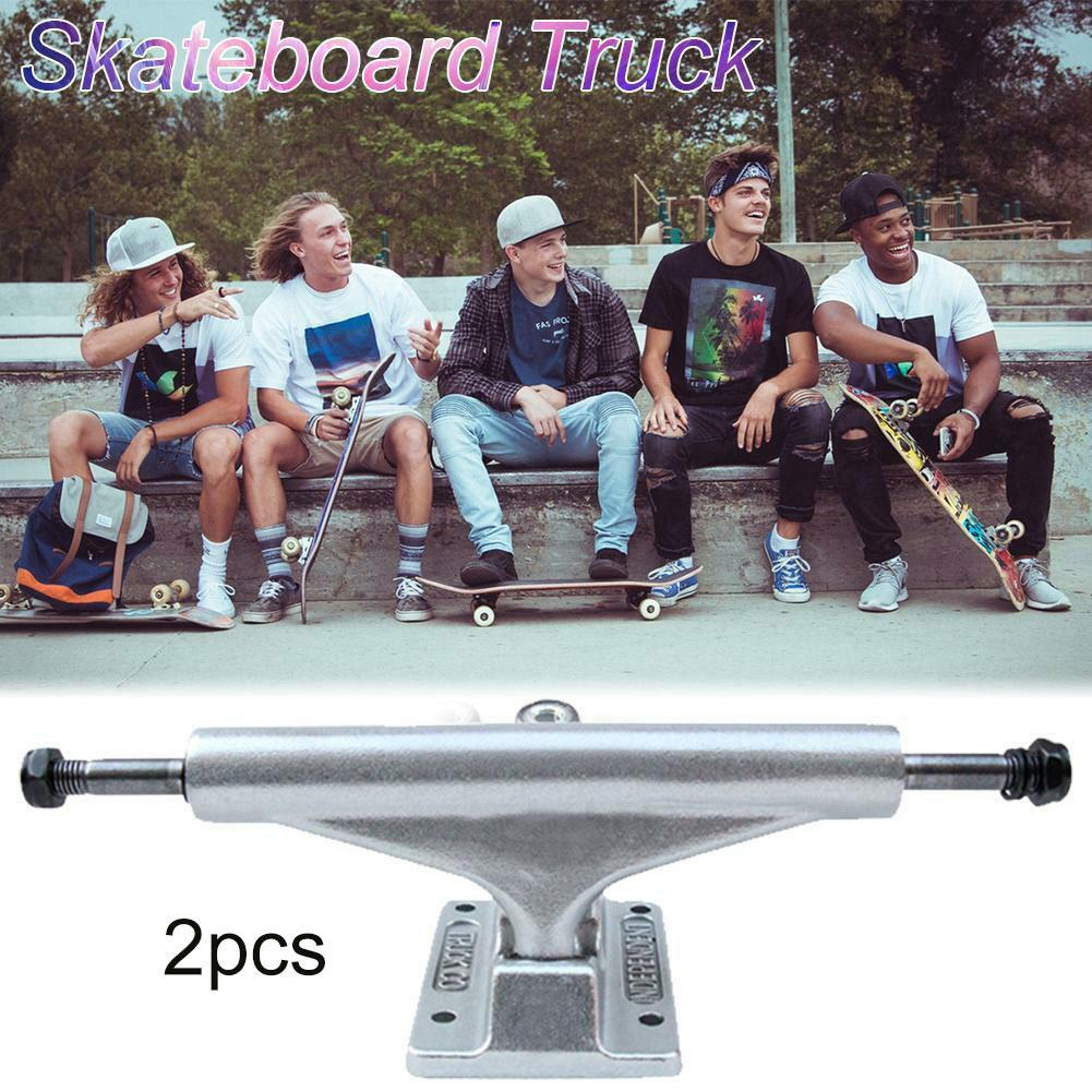 1 Pair Skateboard Longboard 7inch Trucks Magnesium Alloy Hollow Out Holders Part