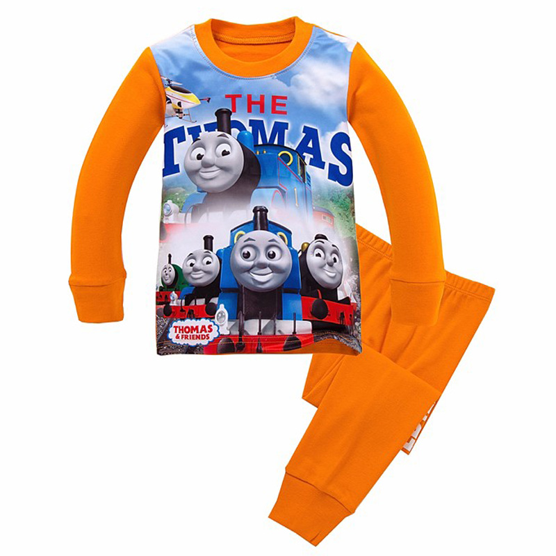 Lovely Spring Pure Cotton Thomas And Friends Children Clothing Long Sleeve Tops+Pants for 2-7 Years Boy Kids Pajamas Sleepwear lovely spring pure cotton thomas and friends children clothing long sleeve tops pants for 2 7 years boy kids pajamas sleepwear
