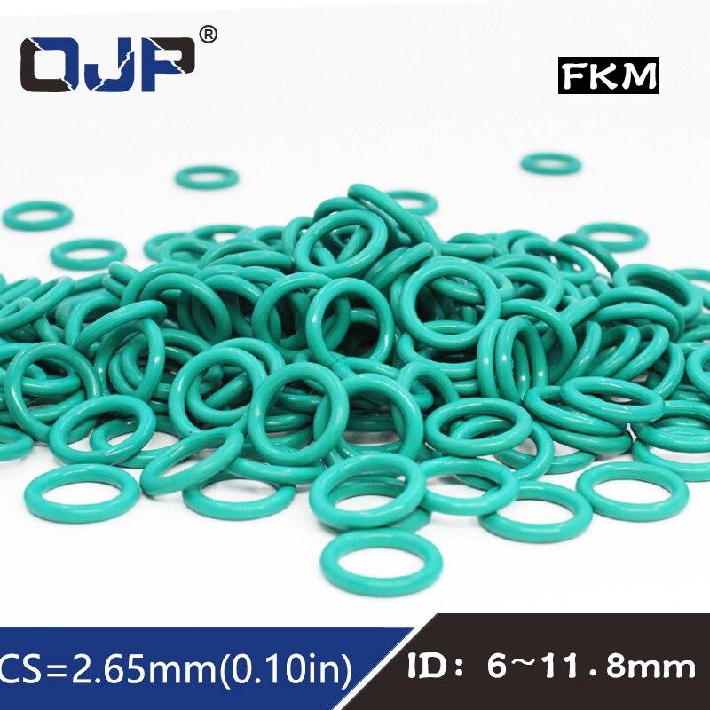 uxcell Fluorine Rubber O-Rings 15mm OD 10mm ID 2.5mm Width FKM Seal Gasket Brown 5pcs