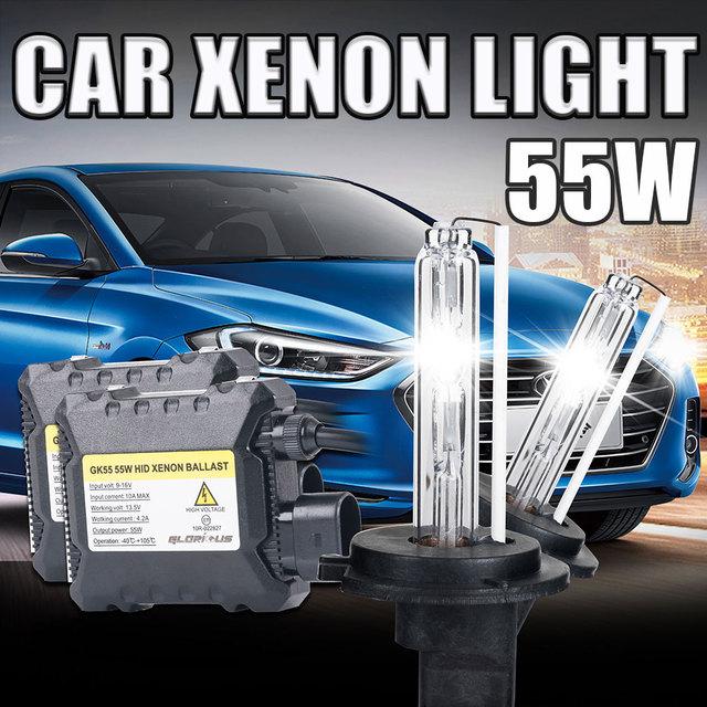 55 W de xenón hid kit xenon H4 con bombilla halógena H4-2 4300 K 5000 K 6000 K 8000 k 10000 k 55 W HID xenon kit de 55 W