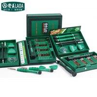 סט 38 in1 ערכת כלים לתיקון מברג מכירה LAOA דיוק סגסוגת פלדת S2 ferramentas כלי עבור טלפון סלולרי iPhone 4S, 5S, 6 s, PSP