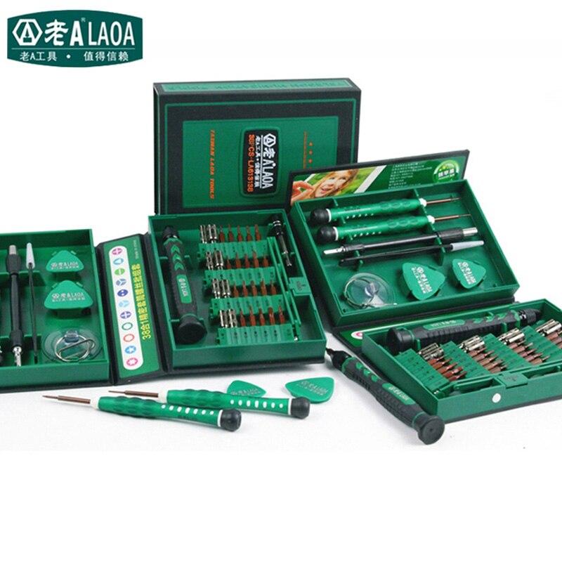 LAOA Verkauf Schraubendreher-satz 38 in1 Reparatur Tools Kit Präzision S2 Legierung Stahl ferramentas werkzeug für Handy iPhone 4 s, 5 s, 6 s, PSP