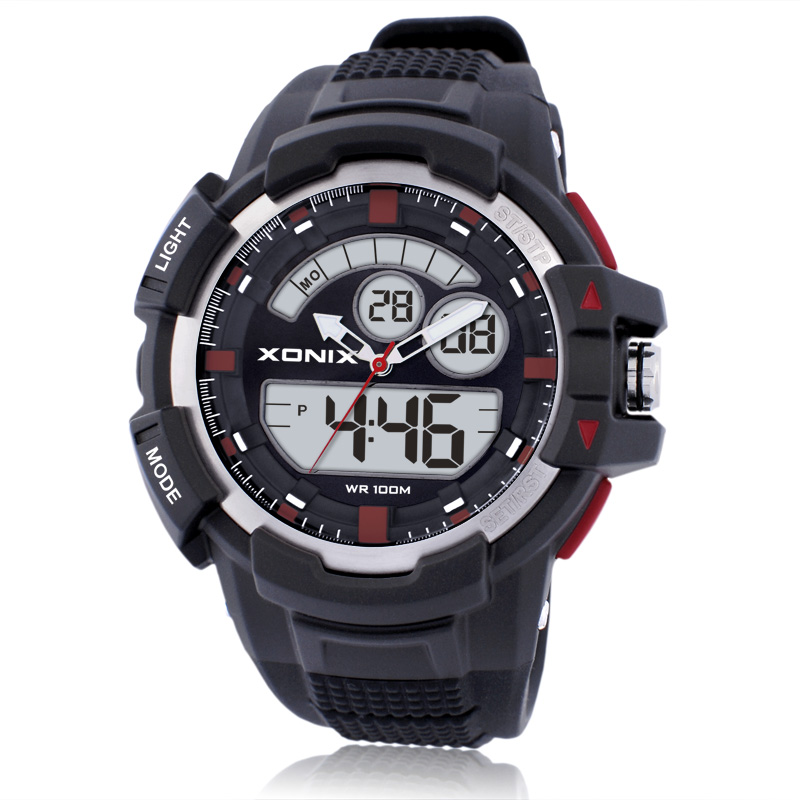 Hot!TOP Men Sports Watches Waterproof 100m Analog-Digital Watch Running Swimming Diving Wristwatch Reloj Hombre Montre Homme W 2017 top brand shockproof waterproof diving watch men sport swim watches 100m water resistant for dive wristwatch swimming