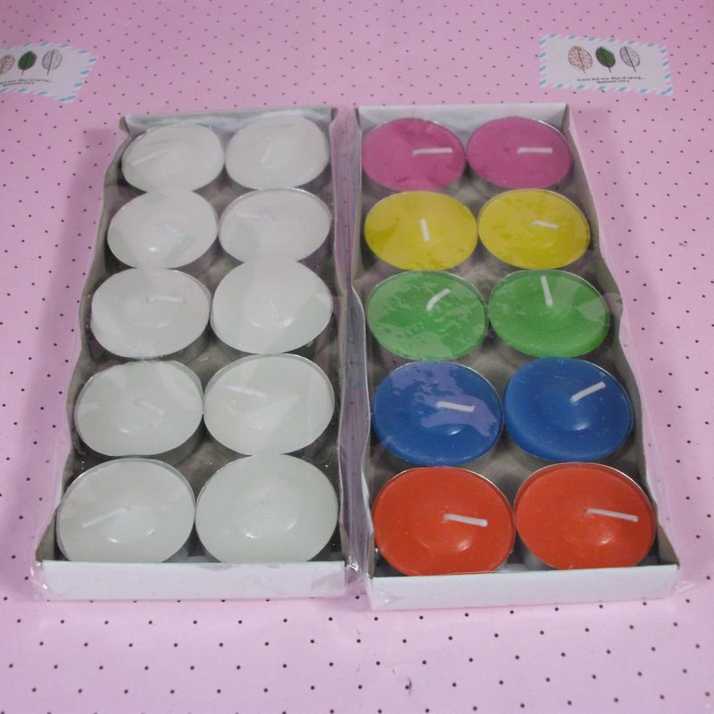 10pcbox romantic home decoration candle wedding birthday party floating candle paraffin wax candles smoke