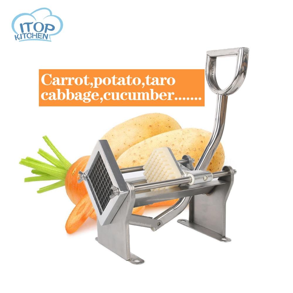 ITOP acier inoxydable frites coupe pommes de terre frites bande Machine à découper fabricant trancheuse hachoir Dicer Gadgets de cuisine