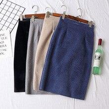 Lolita venta faldas para mujer mujeres envío gratis 2019 Otoño e Invierno versión coreana nueva división tenedor sobre la rodilla, cadera falda