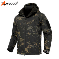 Army Shark Skin Military Jacket Men Coat Softshell Waterpoof Camo Clothes Tactical Camouflage Army Hoody Jacket Male Winter Coat