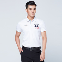 Mens Golf Trainning Shirts Short Sleeve T shirt With Buttons Breathable Fit Dry Handsome Sports Clothing D0663