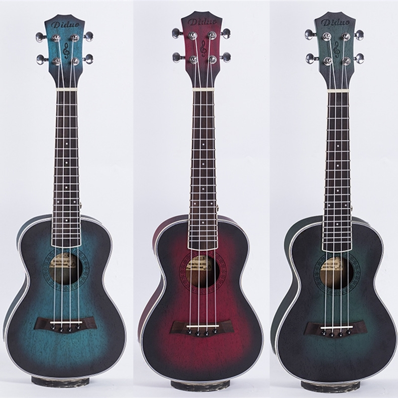 Ukulele 23 Inch Hawaiian Mini Guitar Acoustic Electric Concert 4 Strings Ukelele Guitarra Mahogany Colorful Musical Uke aklot professional solid mahogany electric tenor ukulele starter kit soprano concert ukelele uke hawaii guitar 12 frets 21 inch
