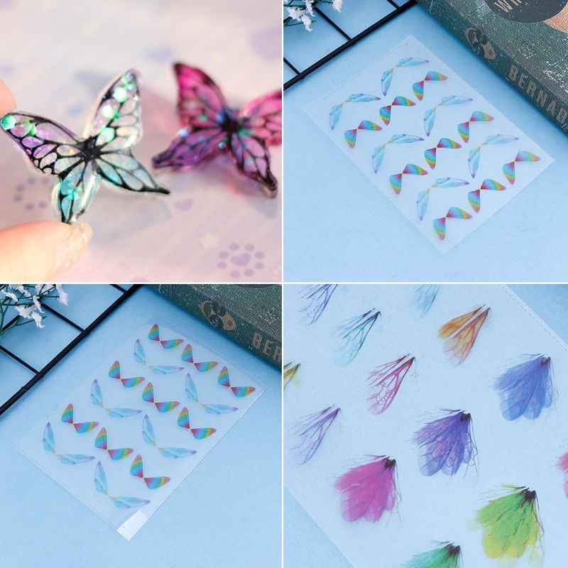 Filling Material Butterfly DIY Epoxy Resin Crafts Filler Jewelry Making Handmade 3D Colorful Insect Dragonfly Decoration JUL3