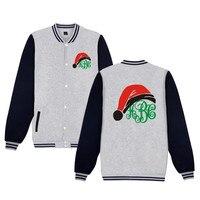 New Arrival Christmas Gift Jacket Funny Print Christmas Baseball Uniform Men Women Clothing Child Kids Gift
