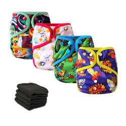 4pcs lot reusable pocket diapers cloth diaper cover newborn baby waterproof nappies with 4pcs 5layers bamboo.jpg 250x250