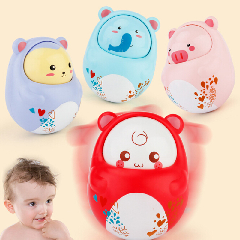 Baby Infant Rattle Teether Mobile Musical Hand Bell Roly-poly Tumbler Set Newborn Develop Toys For Baby 0-12 Month Toy Gifts