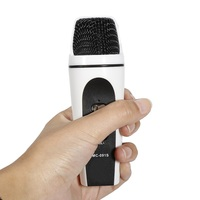 New Fashion Mini Portatile Microfoni A Condensatore Telefono Cellulare K Canzone Microfono Portatile KTV Per IOS Android Built-In batteria Mic