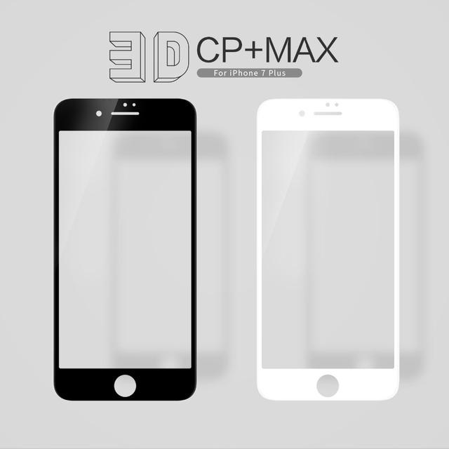 Nillkin incrível protetor de tela 3d para iphone 7 plus cp + max anti-explosão de vidro temperado protetor de tela para iphone 7 s plus
