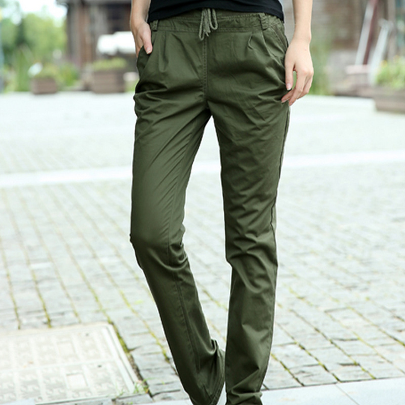 2016 Autumn Casual Harem Pants Women Elastic Waist Pants