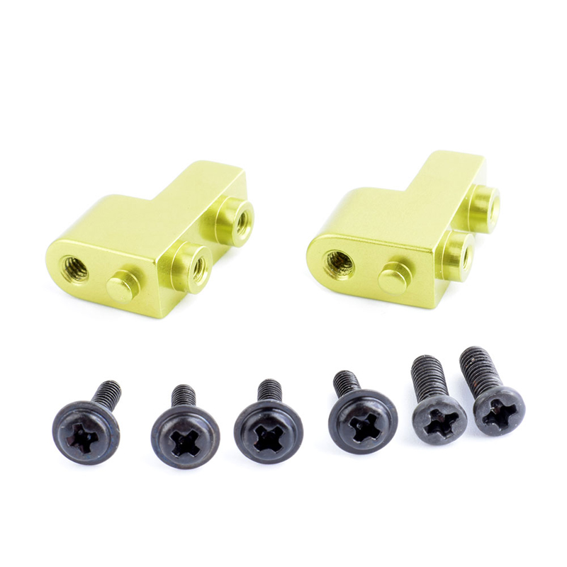 2PCS/Lot Aluminum Alloy Servo Holder Servo Fixed Mount Upgraded Parts Suitable for Wltoys 12428 Feiyue FY-03 RC Model Cars 4 pcs agriculture drone water tank aluminum alloy fixed parts
