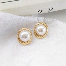 new simple geometric retro earrings fashion girl pearl wholesale beautiful way