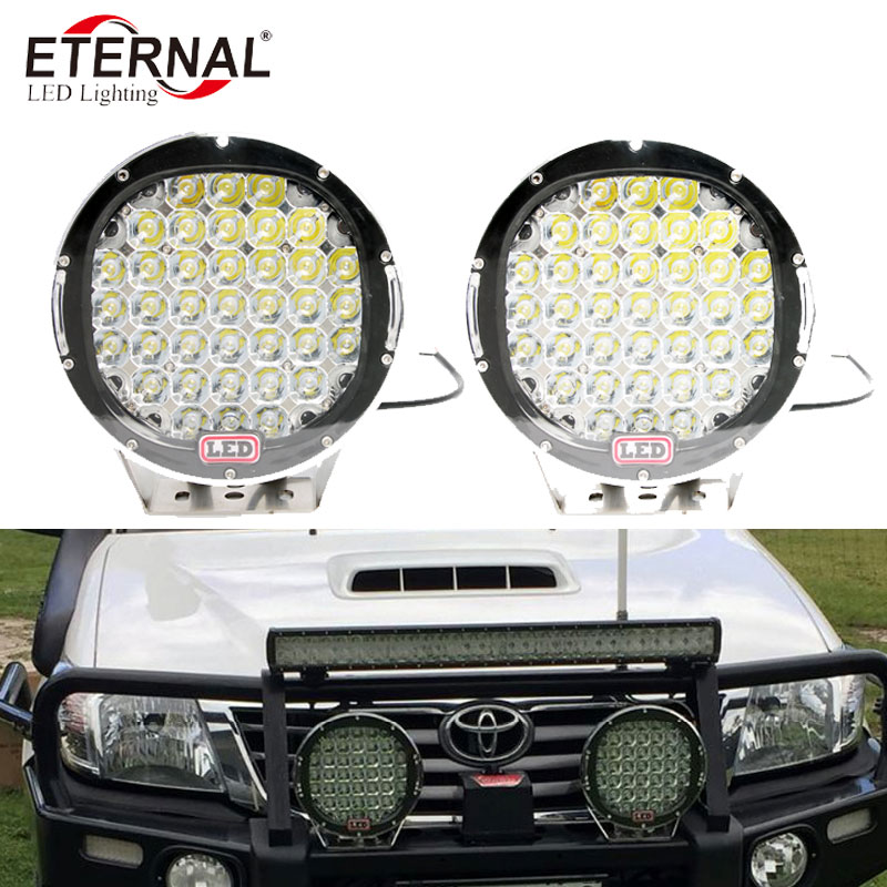 2pcs-9in 185W ARB led driving light high power round work lamp for ATV UTV 4x4 racing marine motorcycle dune buggy 4WD vehicles