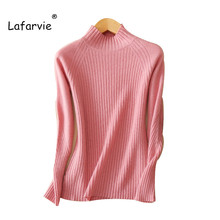 Lafarvie Tops Autumn Winter Women Pullovers Sweater Knitted Elasticity Casual Jumper Fashion Slim Turtleneck Warm Female
