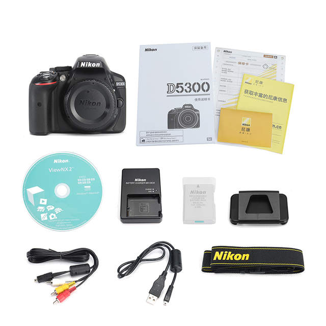 US $671 43  Nikon D5300 DSLR Camera Body Only & Nikon AF P 18 55mm Lens &  Nikon AF P 18 140mm Lens Brand New-in Camera Lens from Consumer Electronics