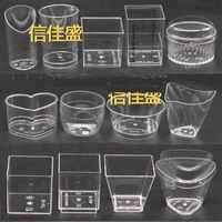 50pcs jetable épais transparent en plastique dur mousse tasse glace gâteau tiramisu tasses 60ml 100ml 160ml 180ml outil de cuisine